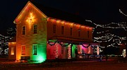 Rural Prints - Christmas Lights Print by Scott Hovind