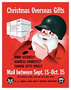 Santa Claus Prints - Christmas Overseas Gifts Print by War Is Hell Store