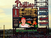 Chase Utley Art - Citizens Bank Park 2 by See Me Beautiful Photography