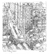 Arial Drawings - City Scape by Elizabeth Carrozza