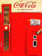 Wingsdomain Art and Photography - Classic Coke Dispenser Machine . Type 2