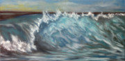 Surf Artist Paintings - Cleo 2 by Kelly Headrick