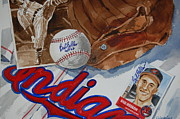 Cleveland Indians Paintings - Cleveland Legend Bob Feller by Bill Dinkins
