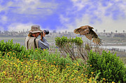 Red Tail Hawk Photographs Posters - Close Encounters Poster by Paul Marto