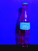 Wingsdomain Art and Photography - Coca-Cola Coke - Painterly - Blue