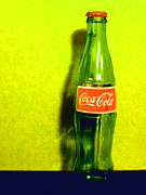 Wingsdomain Art and Photography - Coca-Cola Coke - Painterly - Yellow