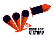 Patriotic Mixed Media - Code For Victory by War Is Hell Store