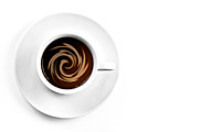 Eating Photo Prints - Coffee and cream Print by Gert Lavsen