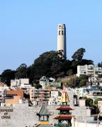 Wingsdomain Art and Photography - Coit Tower and the Empress of China