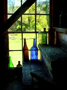 Susan Savad - Colored Bottles On Steps