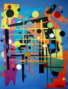 Large Tapestries - Textiles - Colorpop 2 by Teddy Campagna