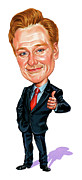 Caricatures Art - Conan OBrien by Art