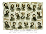 Early Mixed Media Prints - Confederate Commanders of The Civil War Print by War Is Hell Store