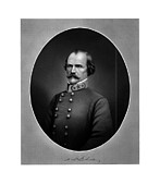 Albert Framed Prints - Confederate General Albert Sidney Johnston Framed Print by War Is Hell Store