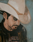 Country Music Painting Originals - Contemplation by Cheri Stripling