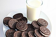 Oreos Prints - Cookies and Milk Print by Barbara Griffin