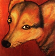 Pembroke Welsh Corgi Mixed Media - Corgi- Ellie Mae by Laura  Grisham
