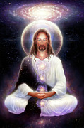 Aura Art - Cosmic Christ by George Atherton