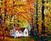 Cheryl Young - Cottage in the Fall    Paint 2