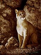 Frank Wilson Prints - Cougar Wait Until Dark  Print by Frank Wilson