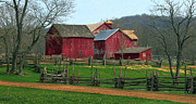 Split Rail Fence Photos - Country Barns by Dave Mills