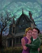Martin Davey - Couple Outside Haunted House