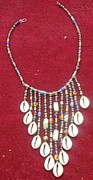 Lace Jewelry - Cowrie Neg Lace by Anjeh Ambroise