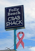 Suzanne Gaff - Crab Shack Sign with Pink Ribbon