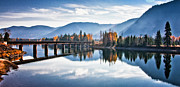 Lakes - Streams - Waterfalls - Crossing the Clark Fork by Albert Seger