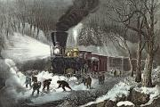 American Railroad Scene - Currier and Ives