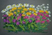 Flowers Pastels - Daisies by Collette Hurst