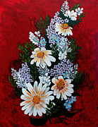 Barbara Griffin - Daisies Lilacs and Forget me nots
