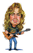 Heavy Metal Framed Prints - Dave Mustaine Framed Print by Art  