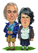 Bbc Prints - David Walliams and Matt Lucas as George and Sandra Print by Art