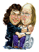 Bbc Prints - David Walliams and Matt Lucas as Lou and Andy Print by Art