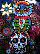 Pristine Cartera Turkus - Day Of The Dead Owl