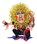 Vocalist Painting Framed Prints - Dee Snider Framed Print by Art  