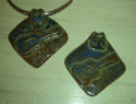 Creative Ceramics - Delta Blues Necklace by Sheri Hubbard