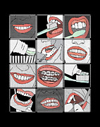 Bonding Digital Art Metal Prints - Dentistry Metal Print by Janet Carlson