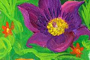 Anne Cameron Cutri - detail purple flower from Birth