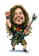 Electric Painting Framed Prints - Dimebag Darrell Framed Print by Art