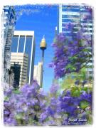 Sydney Photographs Framed Prints - DO-00106 Spring in Sydney Framed Print by Digital Oil