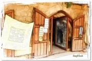 Ancient Doors Digital Art Framed Prints - DO-00345 Display Door in The Souk of Byblos Framed Print by Digital Oil