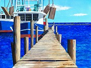 Bayous Painting Prints - Dock 3 Print by Scott Pelham