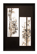 Japanese Paintings - Double Bamboo by Alethea McKee