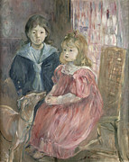 Berthe Morisot - Double portrait of Charley and Jeannie...