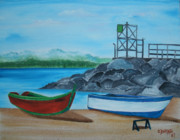 Puerto Rico Paintings - Downtown Aguadilla by Gloria E Barreto-Rodriguez