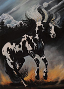  Paint Horse Posters - Dream Horse Series 12 - When Night Falls Poster by Cheryl Poland