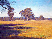Rural Scenes Paintings - Dry Summer Whittlesea Australia by Graham Gercken