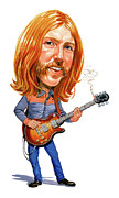 Electric Guitar Framed Prints - Duane Allman Framed Print by Art